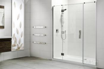 Protective treatment keeps shower glass sparkling clean