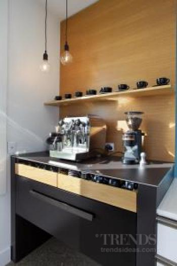NKBA award-winning kitchen 2014 with innovative materials and dedicated coffee centre