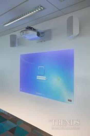 Ultra short-throw projectors, touch screen interactive technology for tertiary institute