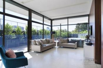 Two-storey family home in glass reinforced concrete with pool on tight site