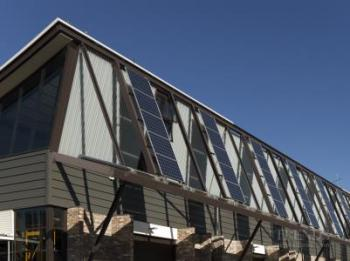The Sustainable Buildings Research Centre at the University of Wollongong is net zero energy, water and carbon