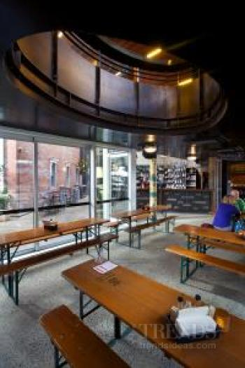 Contemporary commercial building in Christchurch with laneway bars and restaurants