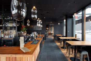 Spice Paragon restaurant and Khao-San Road bar feature Resene Black on walls and ceilings