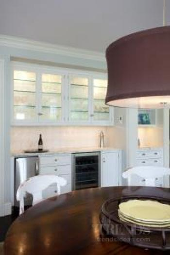 Family kitchen in new extension to traditional home by architect Doug Roberts