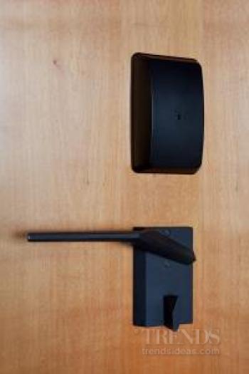 Sleek door handles custom crafted by Chant for Novotel hotel