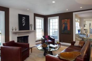 Modern renovation with additional features new great room, designer furniture pieces