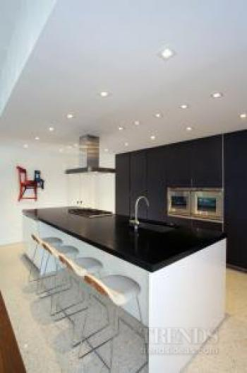 Contemporary Kitchen Design By Nestor Santa Cruz With Boffi Cabinets In  Dark Graphite Oak