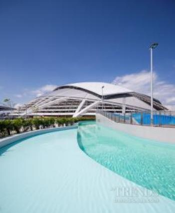 Singapore Sports Hub – stadium, aquatic centre , plazas, retail mall, offices, sports museum