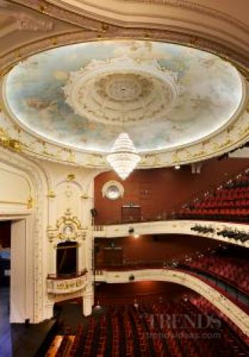 Restoration of decorative plasterwork in the Isaac Theatre Royal by Plaster Services