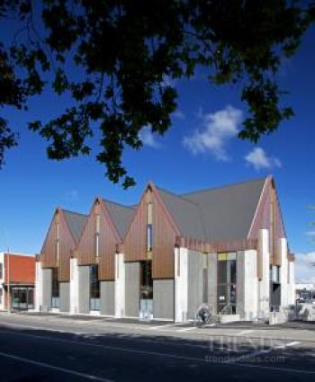 Colorsteel Endura roofing manufactured in New Zealand features on Knox Church