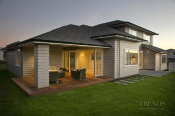Ruapehu show home for Landmark Homes in Taupo has Linea Scyon weatherboard exterior