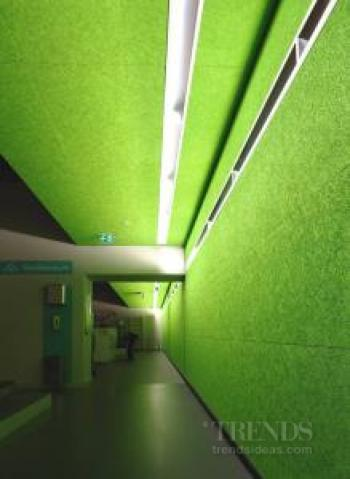 Acoustic wood wool panels from Potter Interior Systems