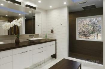 Modern white bathroom with textured tiles shower zone and for Bathroom zone 3