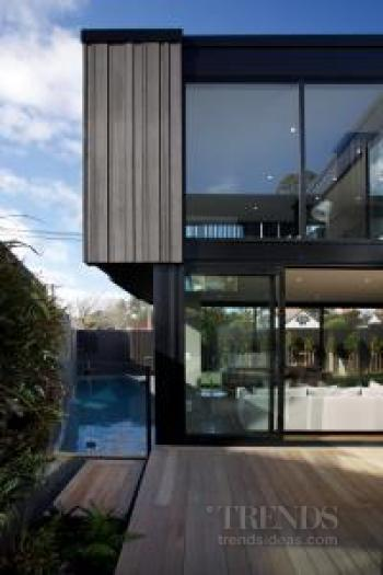 Private, flexible home for family or empty nesters with great indoor-outdoor flow