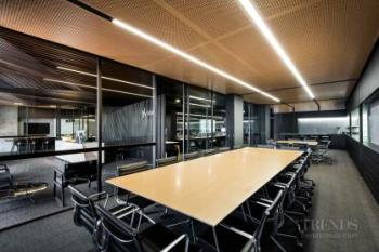 Contemporary architects offices have industrial aesthetic and operable spaces