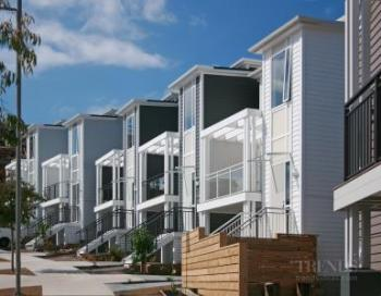 Subdivision's homes have balustrades, canopy and privacy screens by HomePlus