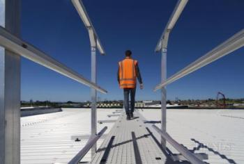 Roof access and walkway safety systems by Monkey Toe feature on NorthWest Shopping Centre