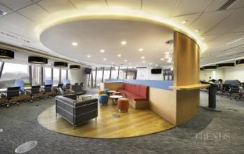 Fit-out for merged companies features open-plan design
