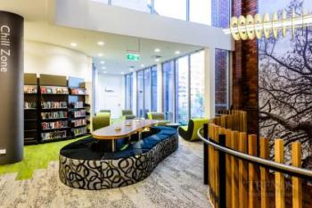 New library responds to its community and surroundings.