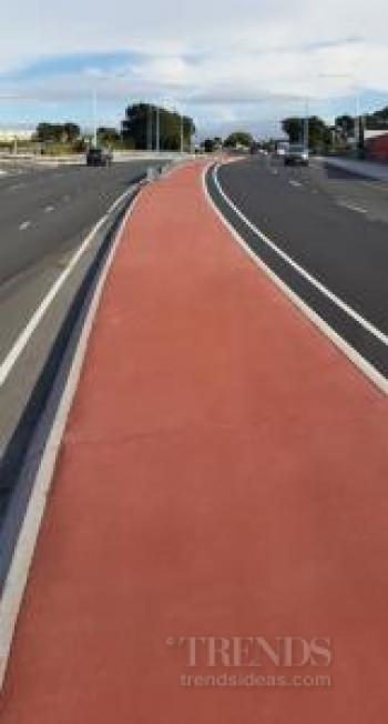 Permacolour coloured concrete is ideal for road safety uses