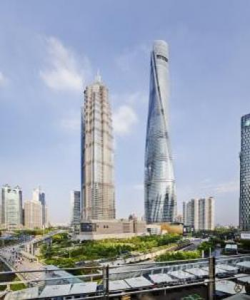 Twisting facade of China's tallest building reduces sway and cuts construction costs