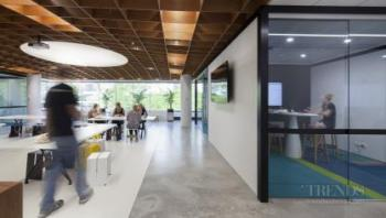 Office fit-out places a social kitchen at its heart to emphasise connectivity