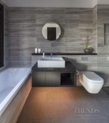 Master bathroom opens up to master bedroom to optimise light and space