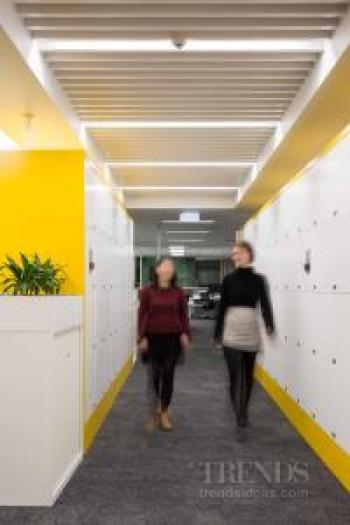 Fit-out for media company Fairfax creates colour-coded zones according to noise levels