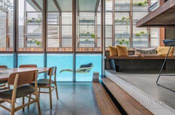 Entertainer's kitchen even has underwater pool views