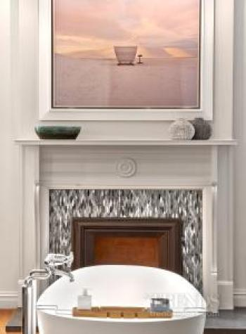 Brownstone renovation results in refined bedroom aesthetic and reinvented master bathroom