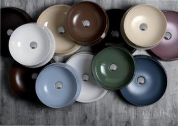 Italian countertop basins come in many colours and shapes