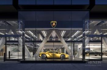 Mixed-use building combines premium car showrooms and servicing with three commercial office floors above