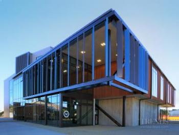 Metal, concrete panels and cedar cladding all combine as a multi-faceted skin for the new Te Ara o Mauao facility