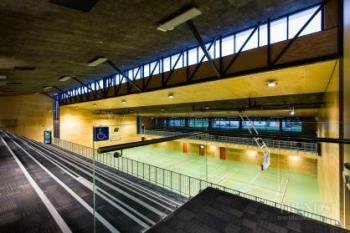 A variety of window systems optimise light and views at this school gymnasium