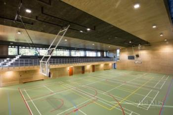 Contemporary new school gymnasium designed for a range of activities