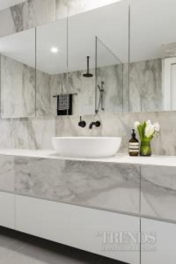 Ensuite renovation has spacious feel despite its long, narrow shape