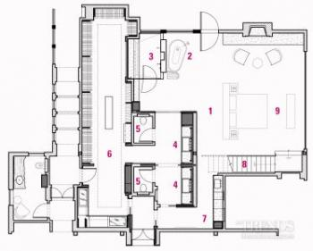 Open-plan or privacy? This master suite design achieves both