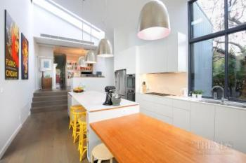 Clean, contemporary through kitchen includes feature central island