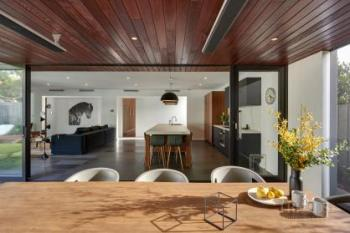 Kitchen addition complements rather than competes with its wider environment