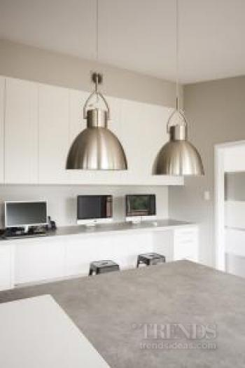 Clean-lined kitchen designed to accommodate wheelchair access
