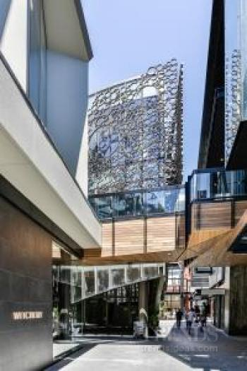 New Christchurch retail complex offers variety of building forms interspersed with laneways and airbridges