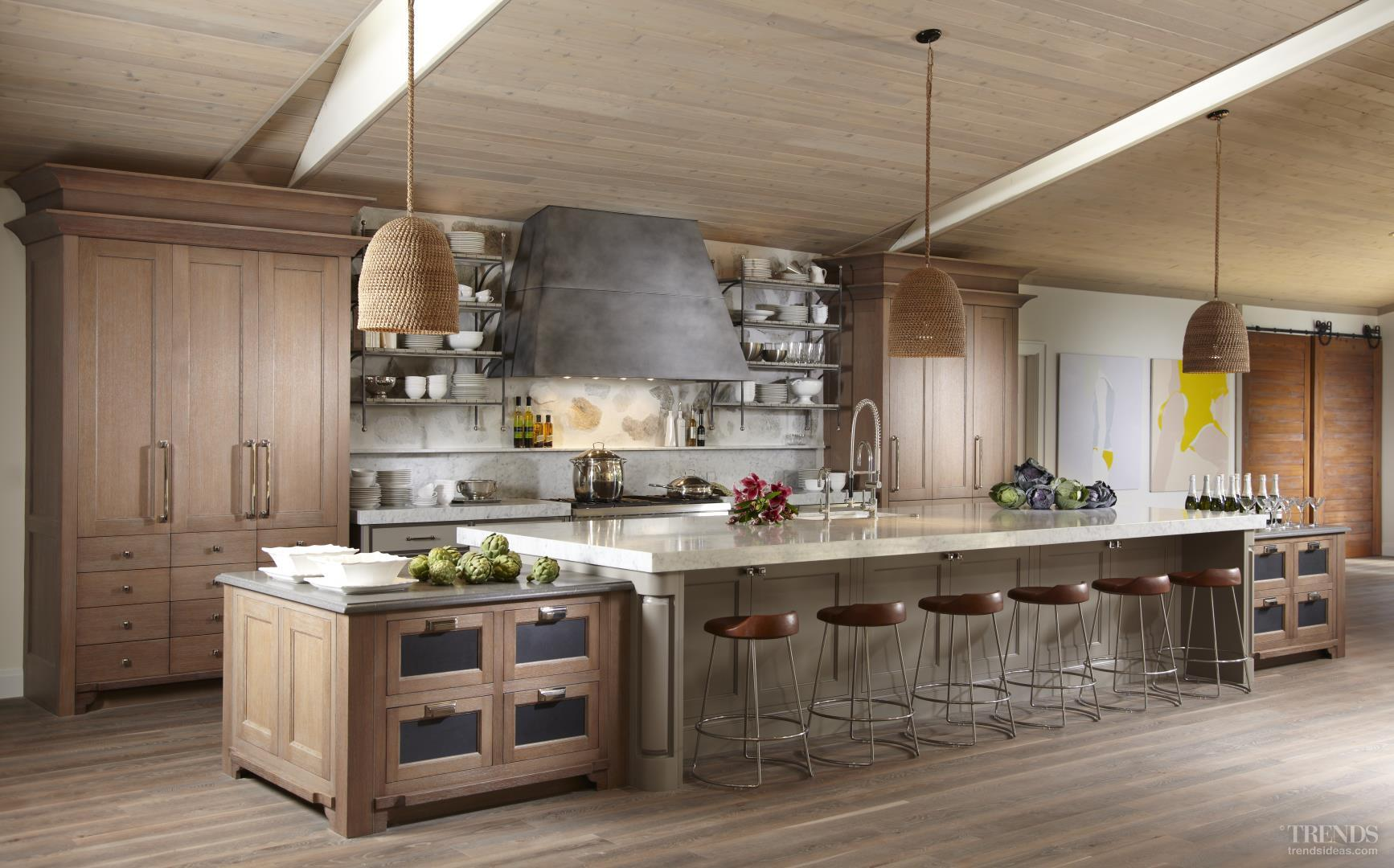 Natural Organic Materials For Renovated Kitchen In Beach