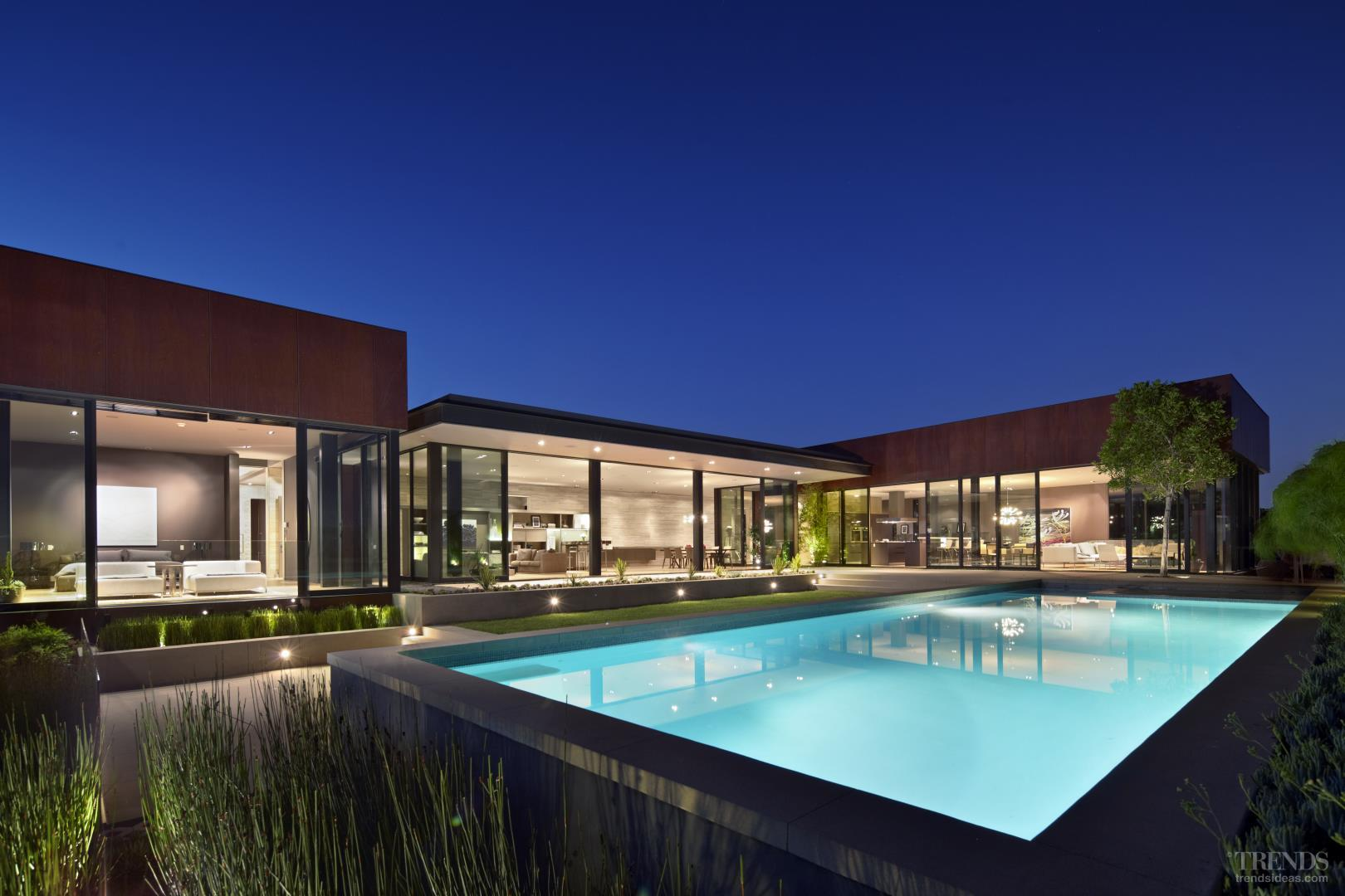 Modern Family House With Glass Pavilion