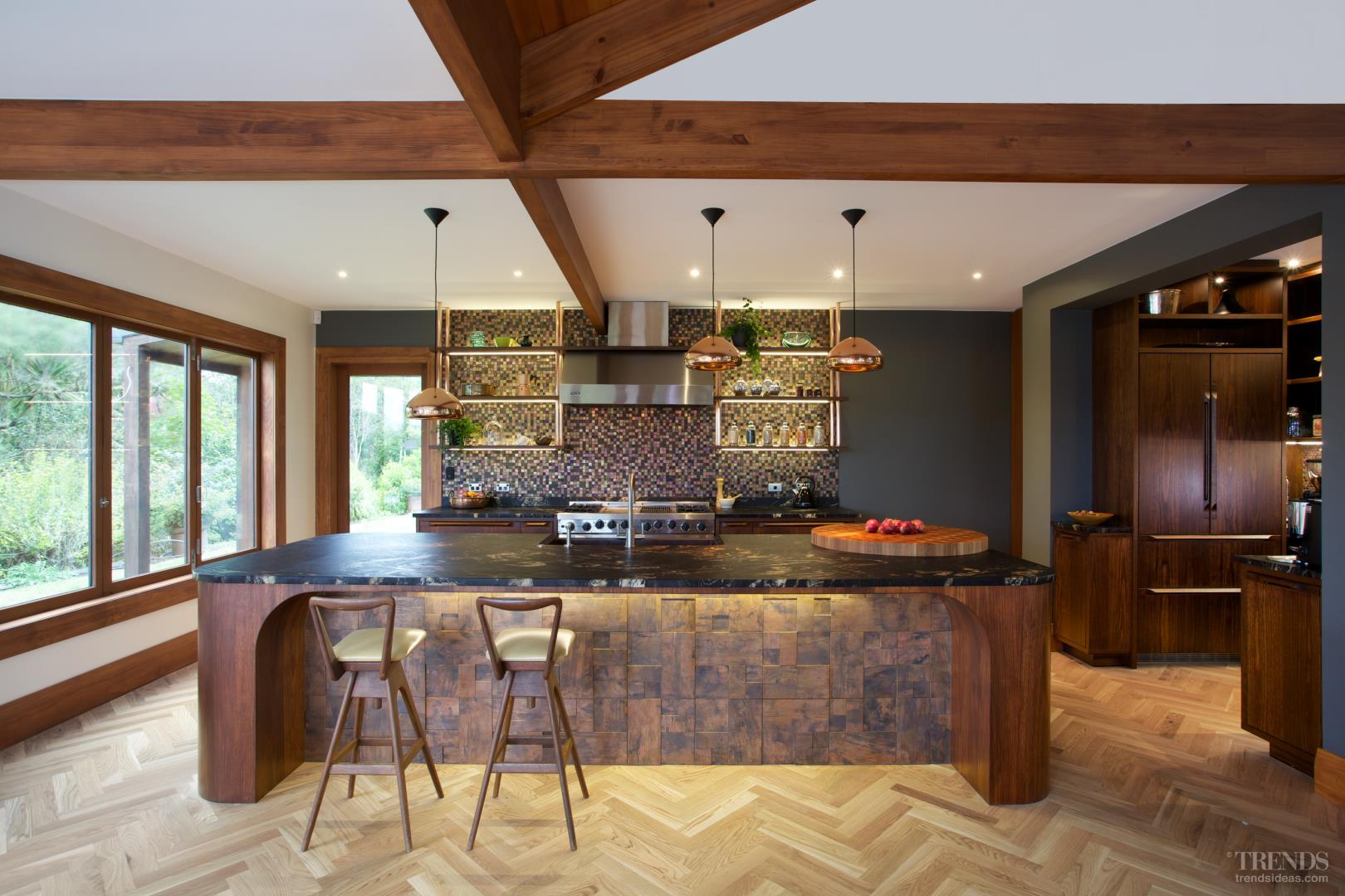 Kitchen In Desert Modern Style With Copper Tiles