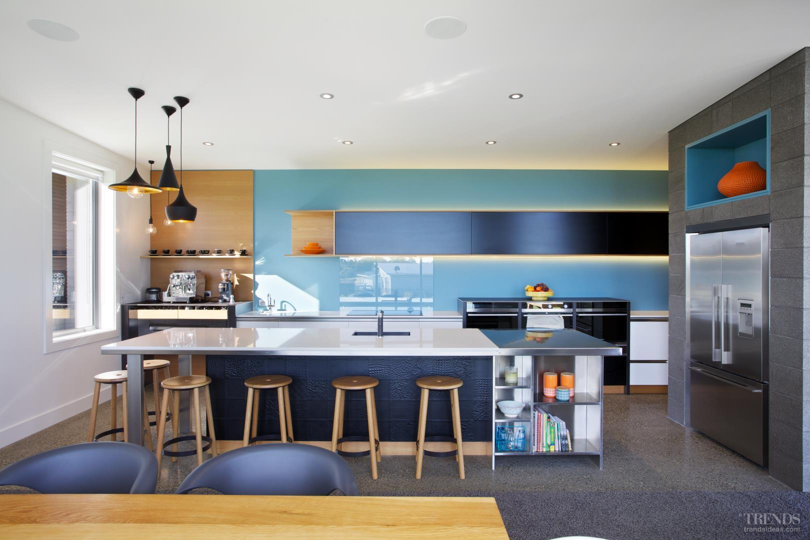 NKBA Award Winning Kitchen 2014 With Innovative Materials And Dedicated  Coffee Centre