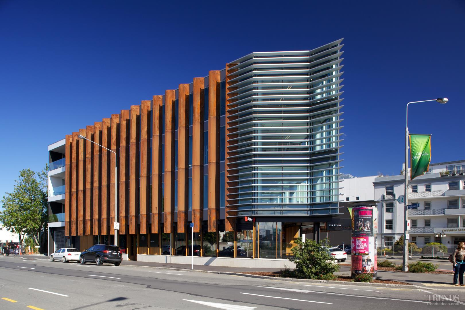 Contemporary commercial building in christchurch with for Contemporary commercial buildings