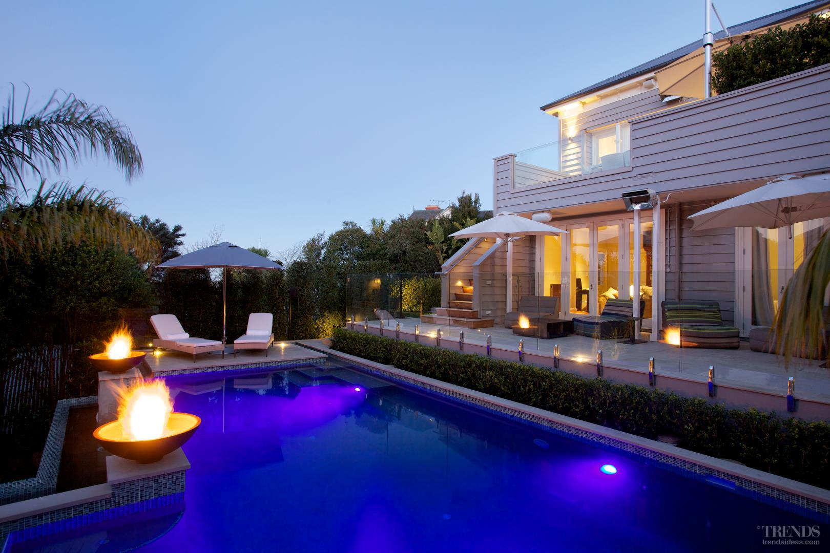 Terraced Backyard Pool : Backyard renovation with new pool, terraced garden and tropical