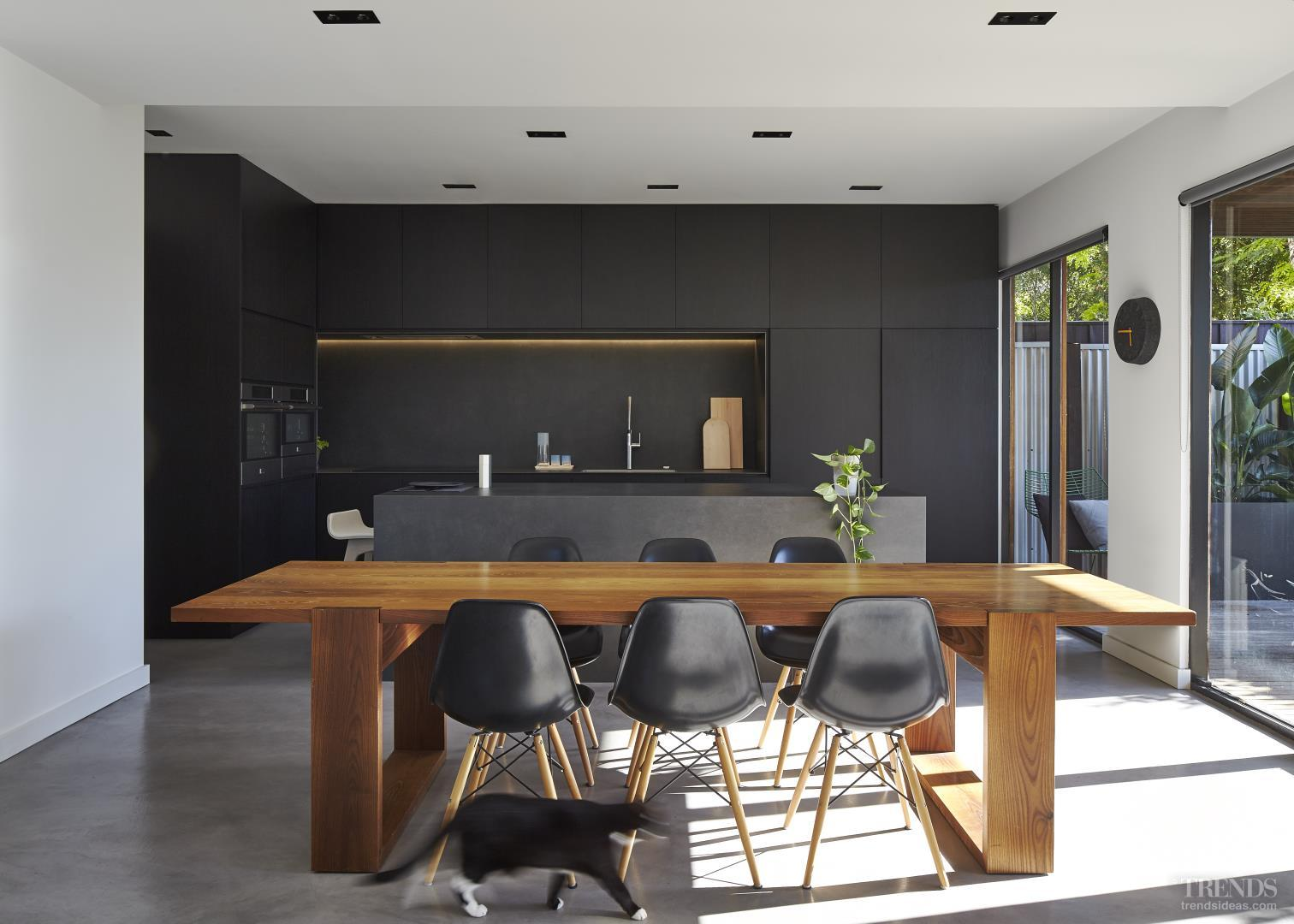 Sleek Black Kitchen By Owner Architect With Black