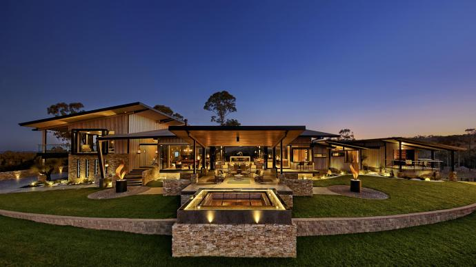 Large rural indoor outdoor home re-creates the feel of luxury hotels
