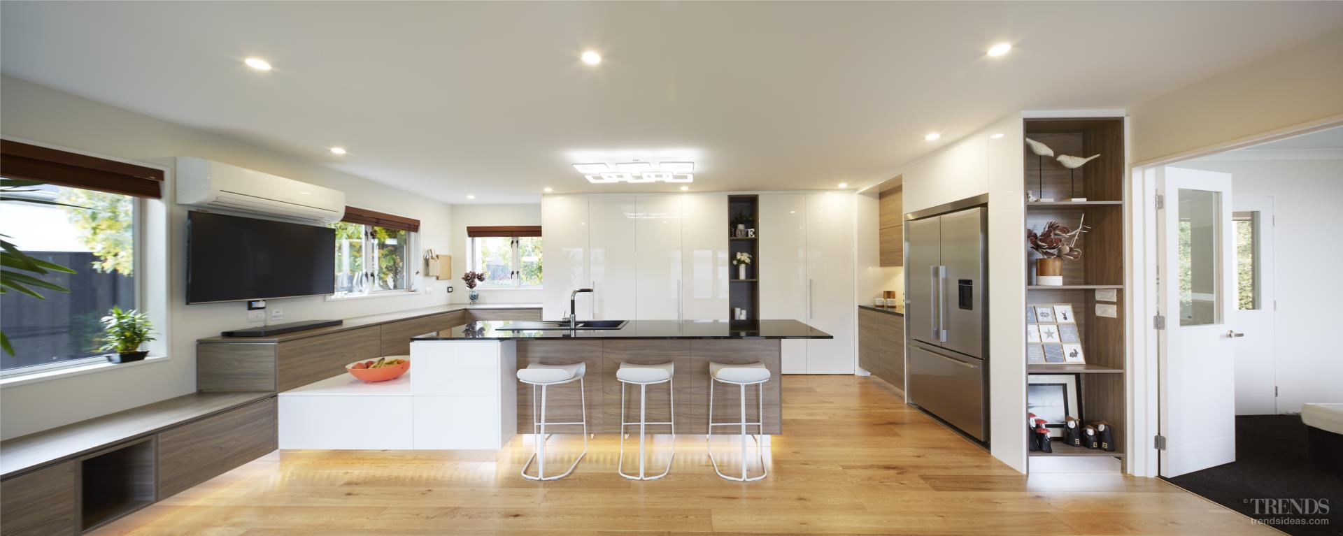 This new kitchen combines luxury with the latest high-tech features